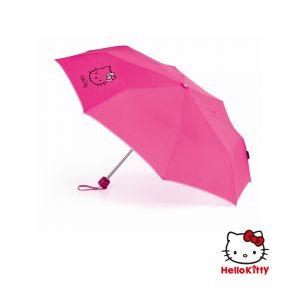 Paraguas personalizado infantil plegable Hello Kitty abierto
