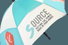 Paraguas personalizado regalo publicitario antiviento abierto