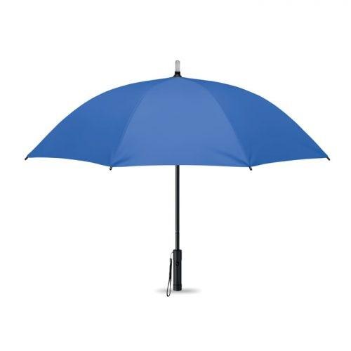 Paraguas personalizado regalo publicitario con luz abierto azul royal