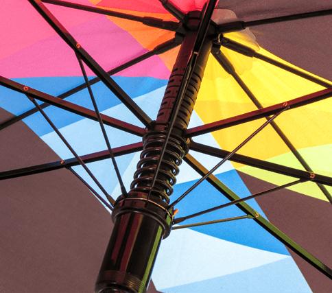 Paraguas personalizado tela sin costuras varillas