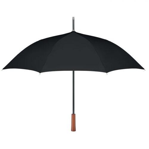 Paraguas ecologico personalizado mango madera negro