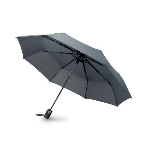Paraguas personalizado plegable automatico fibra abierto