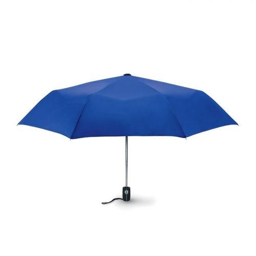 Paraguas personalizado plegable automatico fibra azul royal