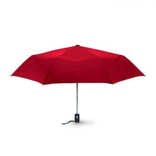 Paraguas personalizado plegable automatico fibra rojo