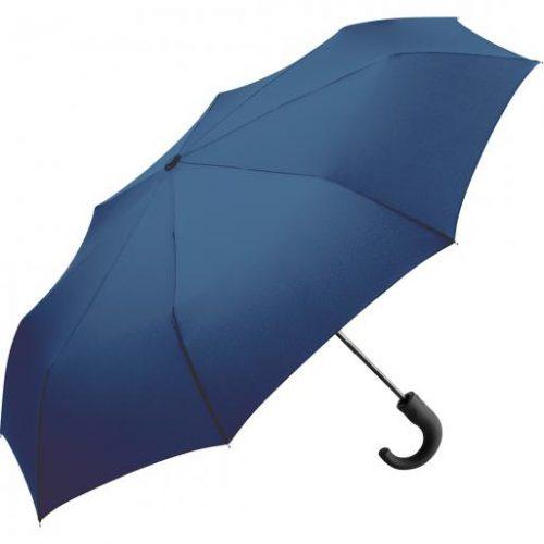 Paraguas personalizado plegable mango curvo azul