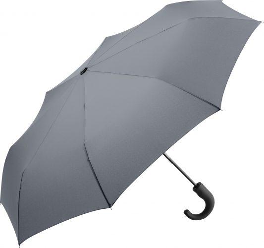 Paraguas personalizado plegable mango curvo gris