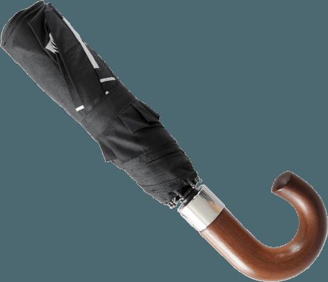 Paraguas personalizado plegable mango madera cerrado