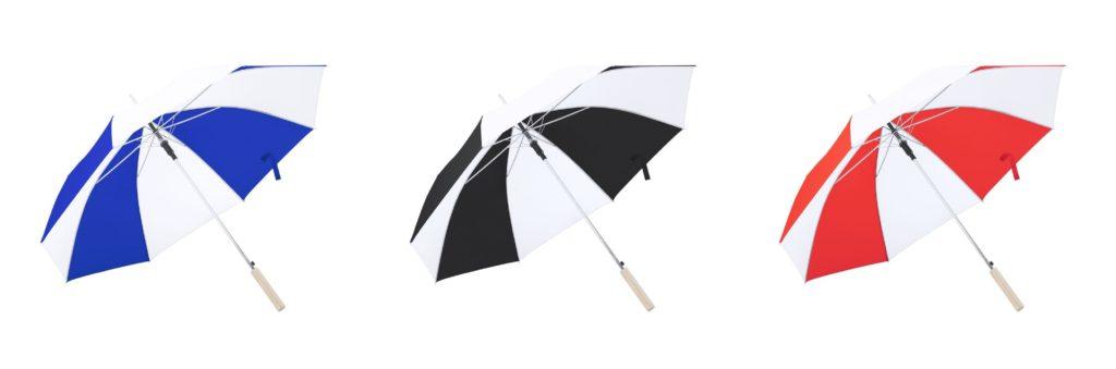 Paraguas bicolor con paneles combinados