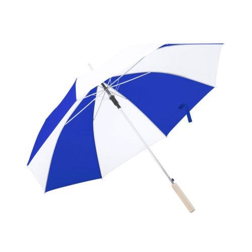 Paraguas combinado azul y blanco