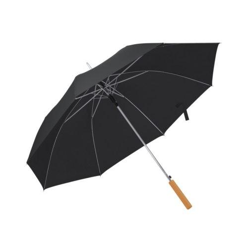 Paraguas automático mango madera negro