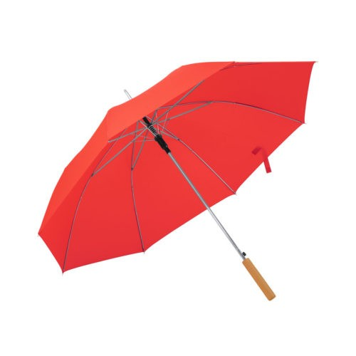 Paraguas automático mango madera rojo