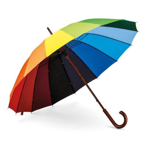 Paraguas arcoíris 16 paneles multicolor