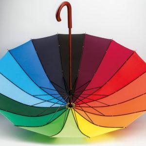 Paraguas personalizado arcoíris 16 paneles multicolor interior