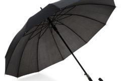 Paraguas automático negro de 12 paneles